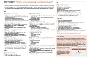 Factsheet 'Crisis- en noodopvang vluchtelingen'