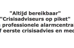 Nieuwe werkwijze rondom 24/7 - V&R Crisiscentrale